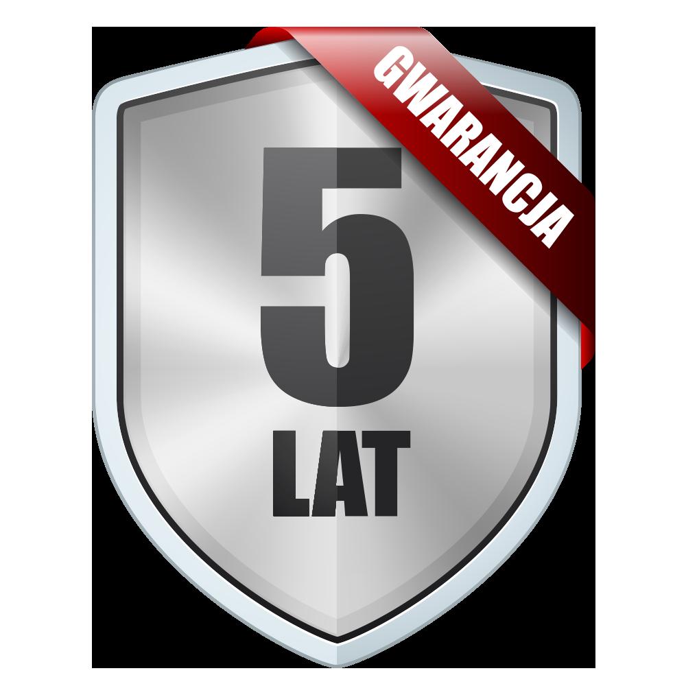 5 lat gwarancji, niezawodność w standardzie.