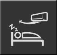 Komfortowy sen -Tryb komfortowego snu zapewnia najwyższą jakość snu, automatycznie dostosowując 3 różne funkcje (boczny przepływ powietrza / 7 programowy timer / Soft wind&sleep)