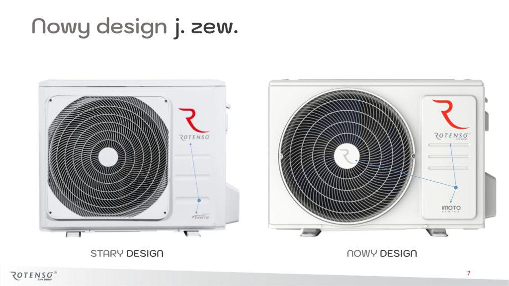 Nowy design jednostki zewnętrznej